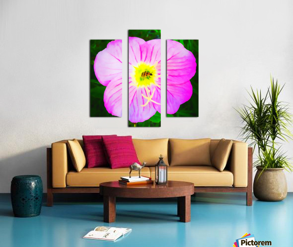 lady bug flower Canvas print