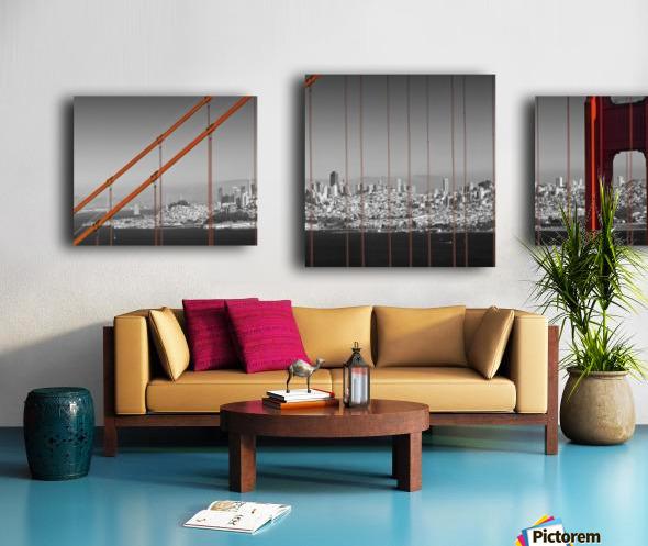 Golden Gate Bridge Panoramic Downtown View Canvas print