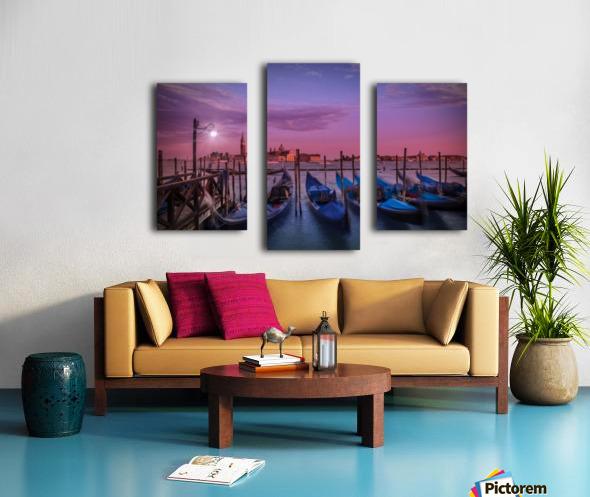 VENICE Gondolas at Sunset Canvas print