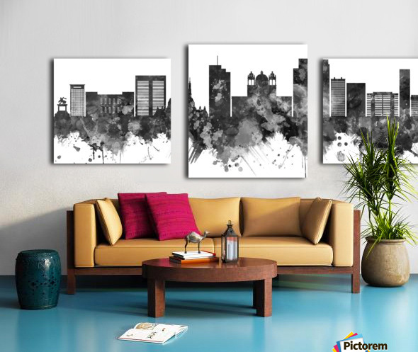 San Salvador Skyline Canvas print