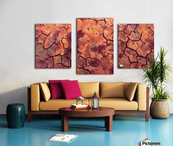 high end rocks art Canvas print