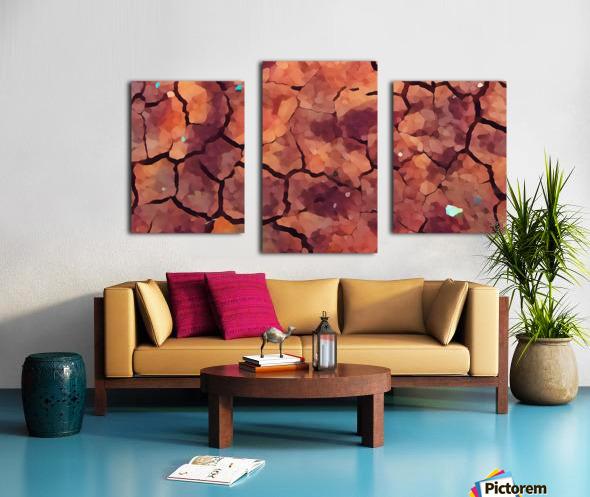 rocks art two Canvas print