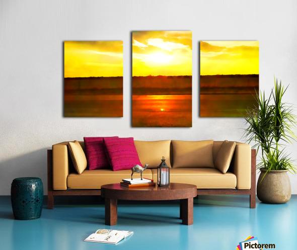 orange yellow Canvas print