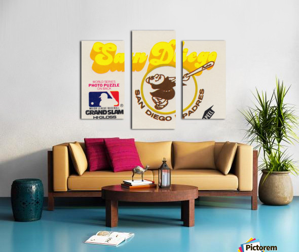 1981 Fleer San Diego Padres Decal Poster Canvas print