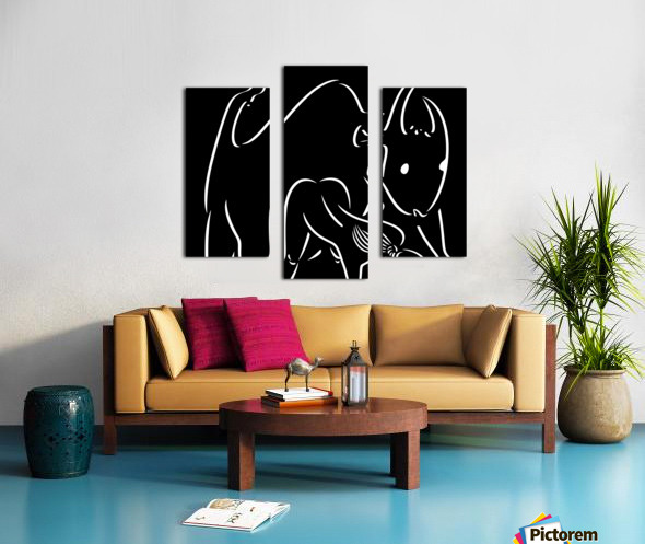Pasiphae and the Bull Canvas print