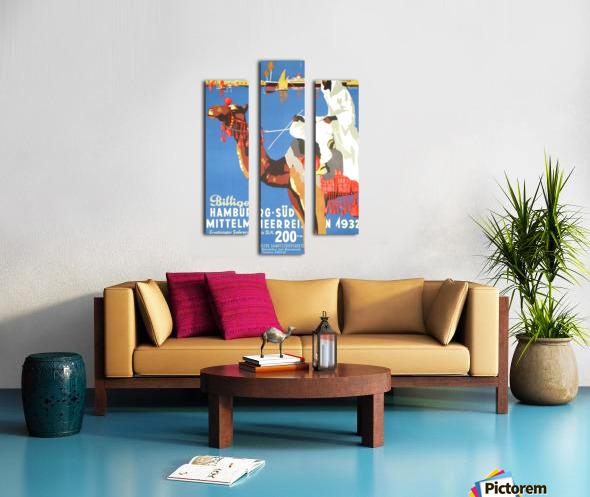Hamburg-Sud Billige Mittelmeerreisen Original Poster Canvas print