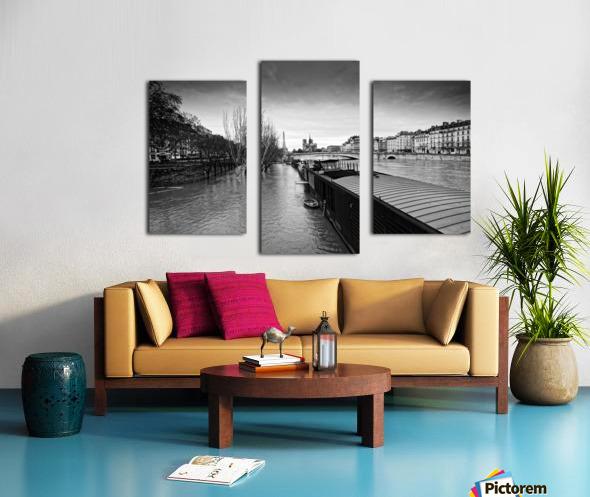 Flood in Paris Impression sur toile