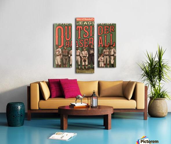 League of Outsider Baseball Canvas print