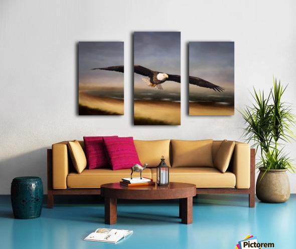 Raptor Skies Canvas print