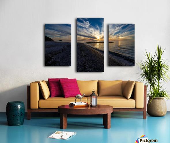 La Bloc Sunset Canvas print