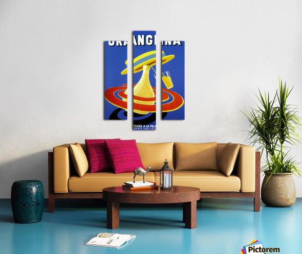 Orangina Vintage Poster Canvas print