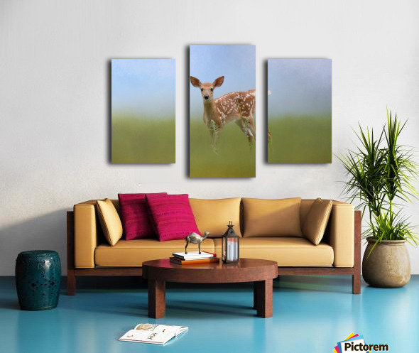 Spotty the Fawn Canvas print