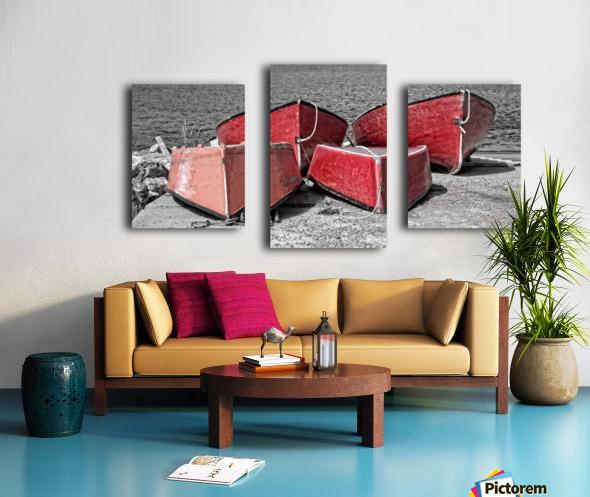 Red Dorries Canvas print