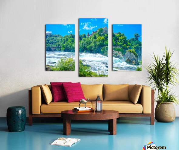 Perfect Day at Rhine Falls Switzerland Canvas print