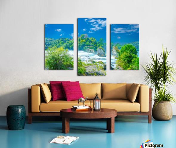 Beautiful Day at Rheinfall Switzerland 1 of 2 Canvas print