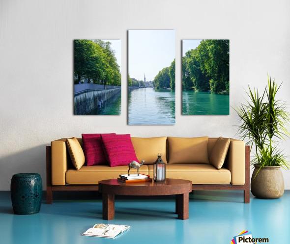 Snapshot in Time Zurich in Summer 1 of 6 Canvas print