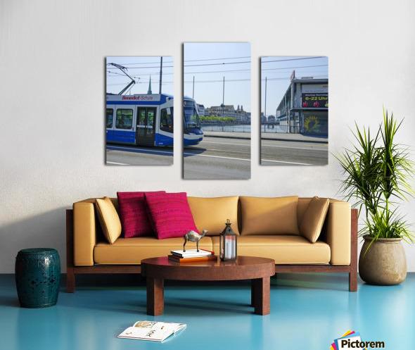 Snapshot in Time Zurich in Summer 4 of 6 Canvas print