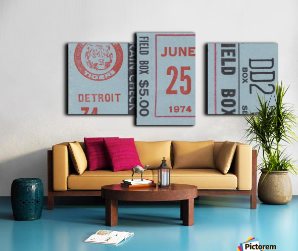 1974 Detroit Tigers Field Box Ticket Canvas print