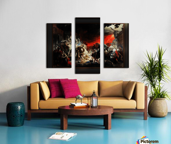 The Last Day of Pompeii by Karl Bryullov Classical Fine Art Xzendor7 Old Masters Reproductions Canvas print