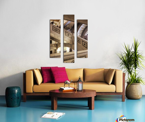 A Painting of Stairs Canvas print