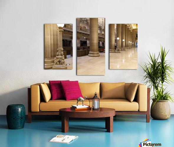 Bank Columns Canvas print