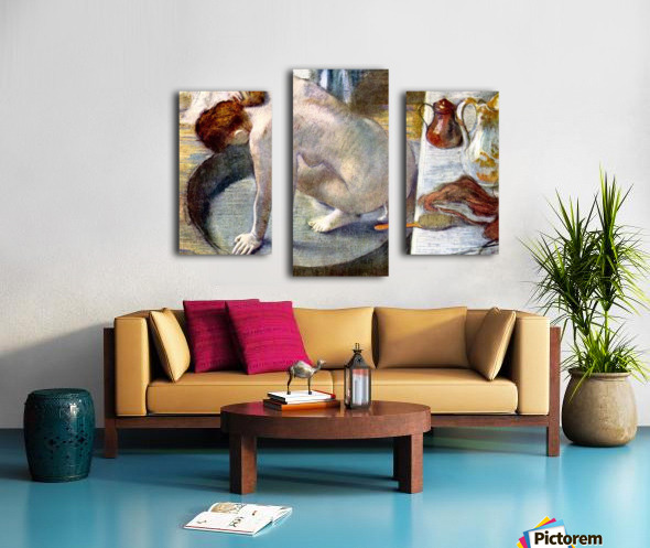 Woman washing in the tub by Degas Canvas print