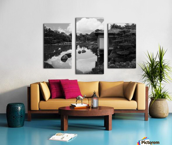 Black White Pond Canvas print