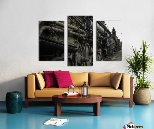 Old Train in the Yard Canvas print