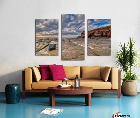 Low Tide in Petit Etang Canvas print