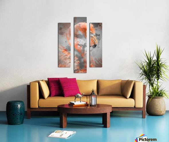 Flamant  Canvas print
