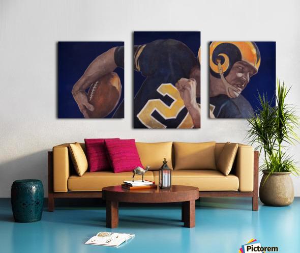 1959 LA Rams Vintage Football Art Canvas print