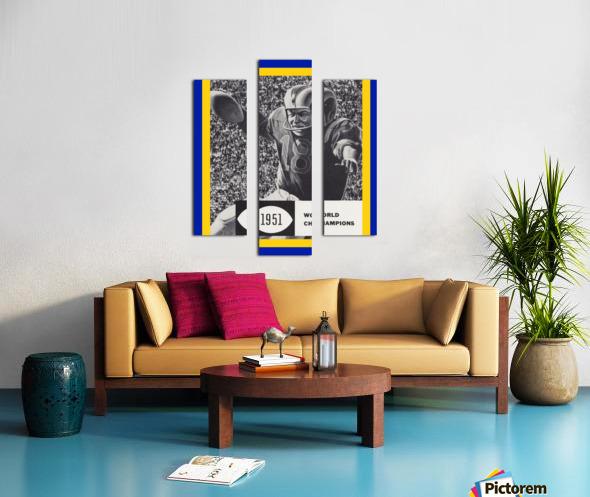 LA Rams 1951 World Champions Art Canvas print