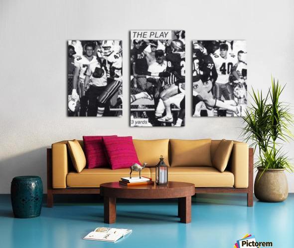 1987 Michael Irvin Miami Football Art Canvas print