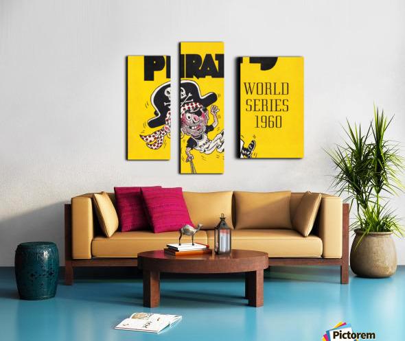 1960 Pittsburgh Pirates World Series Art Canvas print