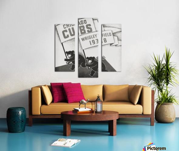 1938 Chicago Cubs Remix Row 1 Canvas print