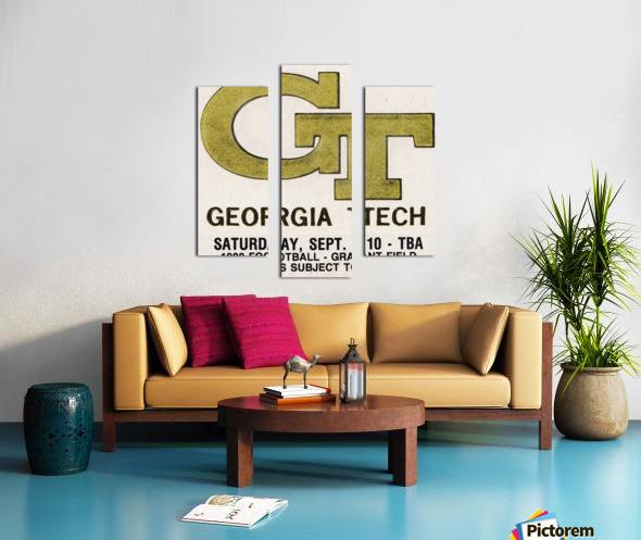 1988 Georgia Tech Football Ticket Stub Remix Canvas print