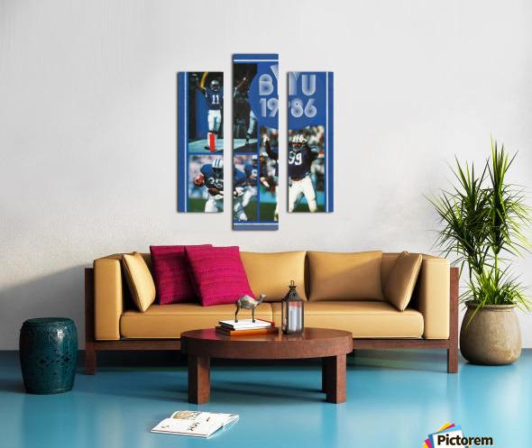 1986 BYU Cougars Football Art Canvas print