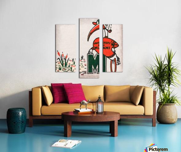 Vintage Fifties Miami Hurricane Art Canvas print