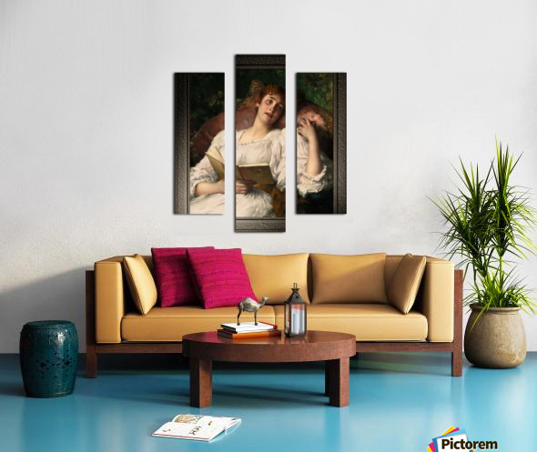 Day Dreaming by Conrad Kiesel Xzendor7 Old Masters Reproductions Canvas print