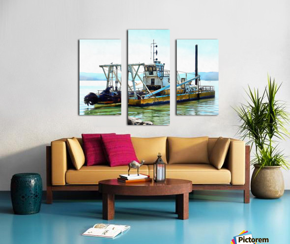 Lake Dredger at Passignano Sul Lago Canvas print