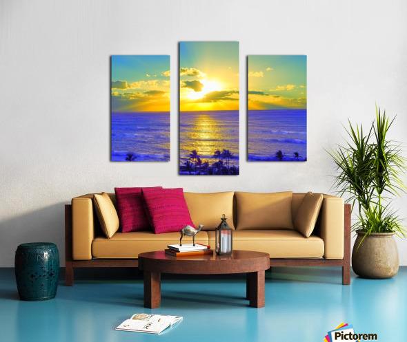 Golden Sunset After the Storm Canvas print