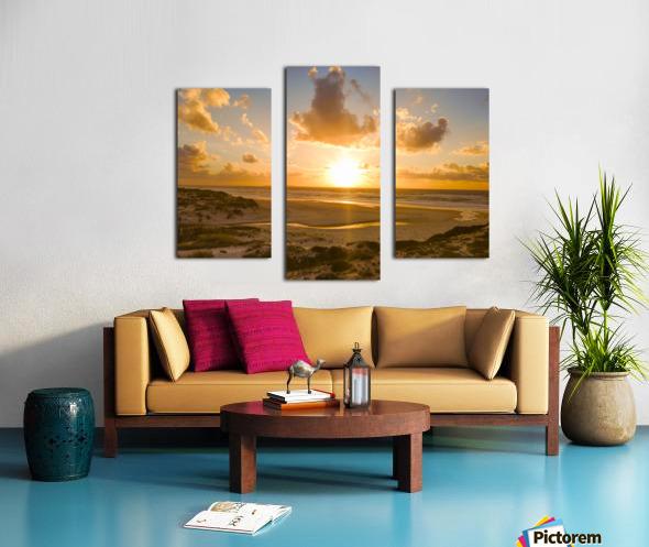 Atlantic Sunset over Praia Del Rey - Portugal Canvas print
