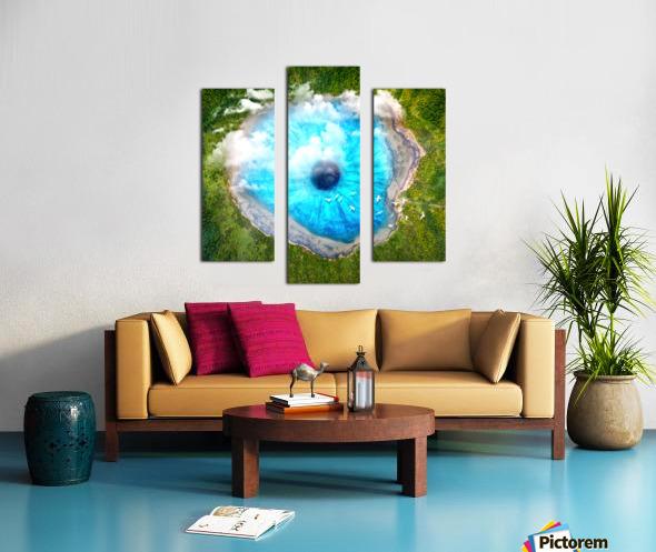Dream Art XX Surreal Eye Lake Canvas print