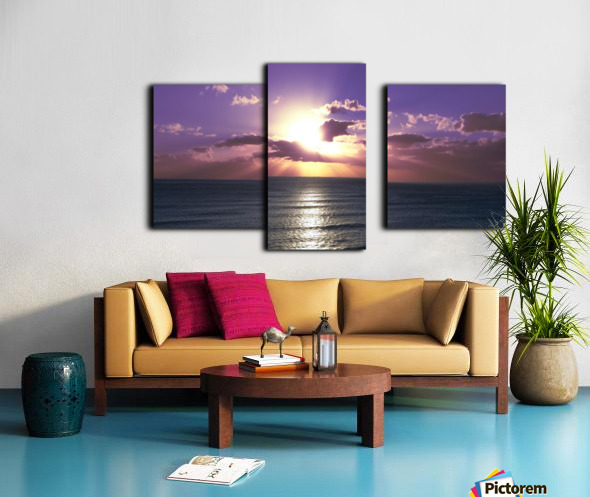 Tranquility - Relaxing Sunset over the Pacific Canvas print