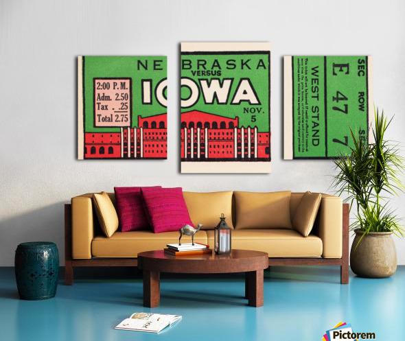 1932 Iowa Hawkeyes vs. Nebraska Cornhuskers Canvas print