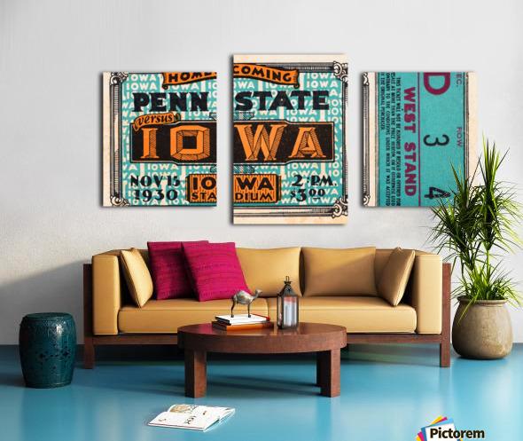 1930 Iowa vs. Penn State Canvas print