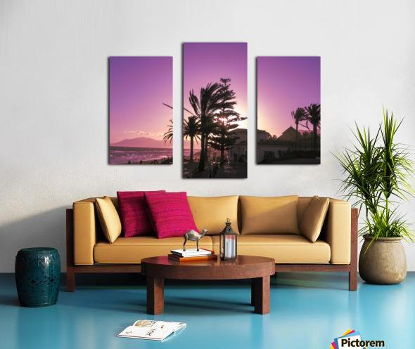 Sunset Costa Del Sol Spain Canvas print