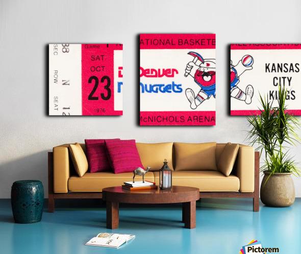 1976 Denver Nuggets First NBA Home Game Canvas print