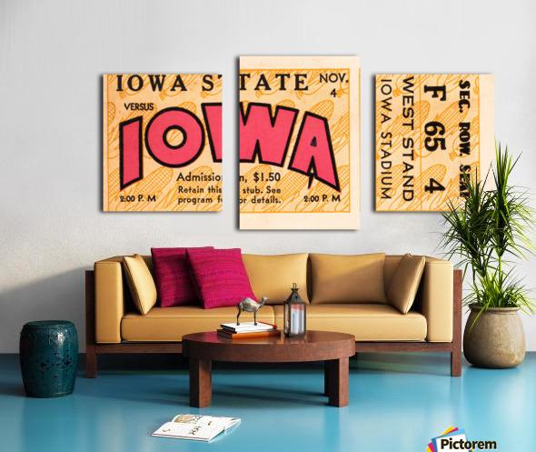 1933 Iowa State vs. Iowa Football Ticket Art Canvas print