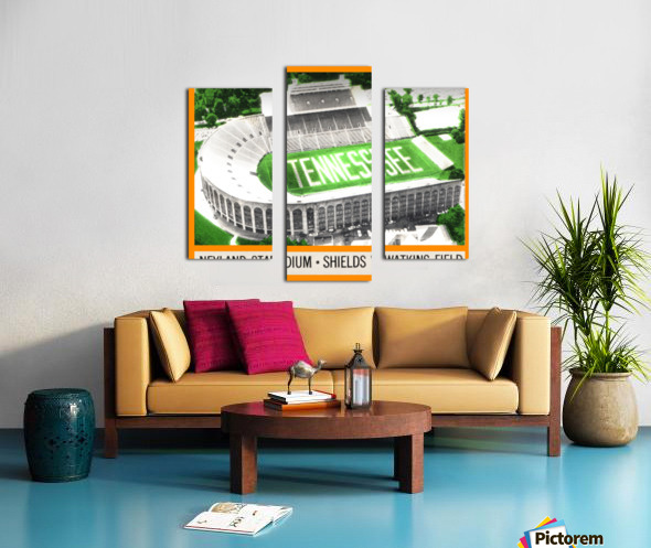 1964 Tennessee Vols Football Ticket Stub Remix Canvas print